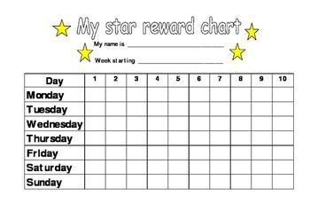 Star Reward Chart - 7 Days