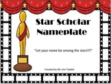 Star Scholar Nameplate
