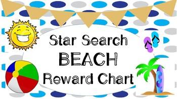Star Search Beach VIPKID Reward Chart - Online Teaching Tools