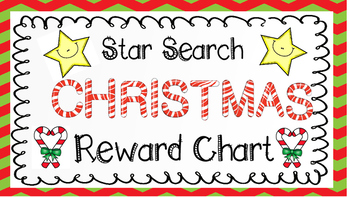 Star Search Christmas VIPKID Reward Chart - Virtual Classroom - Online Teaching