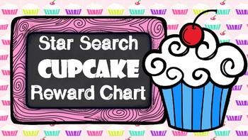 Star Search Cupcake VIPKID Reward System Chart - Online Teaching Tool