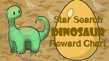 Star Search Dinosaur VIPKID Reward System Chart - Online Teaching Tool