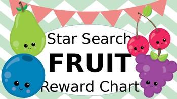 Star Search Fruit VIPKID Reward Chart - Online Teaching Tools