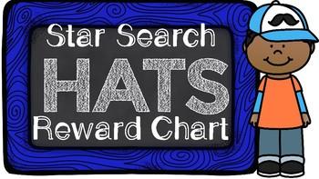 Star Search Hats VIPKID Reward Chart - Online Teaching Tools