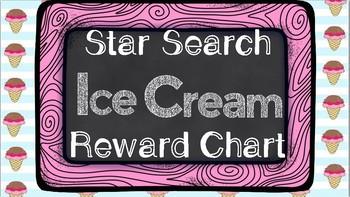 Star Search Ice Cream VIPKID Reward Chart - Online Teaching Tools