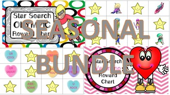 Star Search SEASONAL BUNDLE 1 VIPKID Reward System Chart - Online Teaching Tool