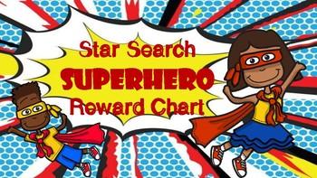 Star Search Superhero VIPKID Reward Chart - Online Teaching Tools