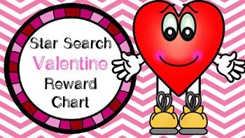 Star Search Valentine's Day Heart VIPKID Reward Chart - Online Teaching Tools