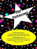Star Sentences- Assessing First Grade CCSS RF1.1
