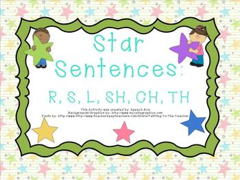 Star Sentences: R,S,L,SH,CH,TH