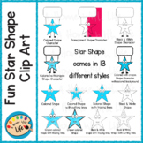 Star Shape 2D Clip Art
