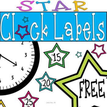 Star Shaped Clock Decor FREEBIE: For Your Star Themed Classroom!