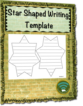 Star Shaped Writing Template