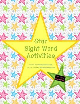 Star Sight Word Activities