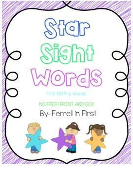 Star Sight Word Pack with Fry Words