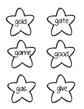 Star Sort Phonics Game: Soft G and Hard G