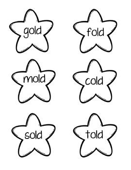Star Sort Phonics Game: -old,-ost,-olt,-ild,-ind