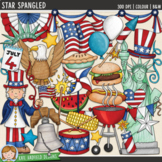 "Fourth of July Clip Art: ""Star Spangled"""