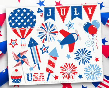 Star Spangled 4th of July, Independence Day, USA, Summer, SVG