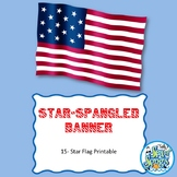 Star-Spangled Banner - 15 Star Printable Flag