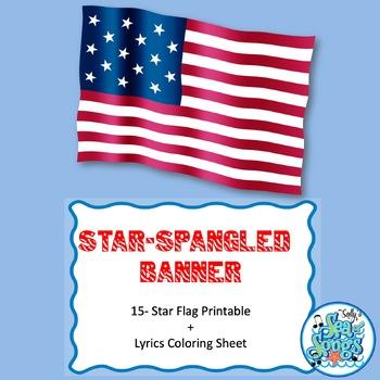 Star-Spangled Banner - 15 Star Printable Flag