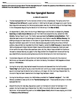 Star Spangled Banner Assessment