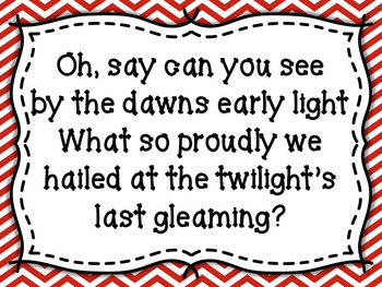 Star Spangled Banner Bulletin Board + Game