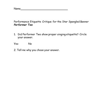 Star Spangled Banner Complete Unit Activity for Music Classes