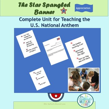 Star Spangled Banner Complete Unit Activity for Music Classes Sale 10-3!