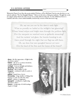 Star Spangled Banner: National Anthem Lesson