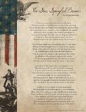Star Spangled Banner Lyrics Handout Sheets - 4 Versions - PDF