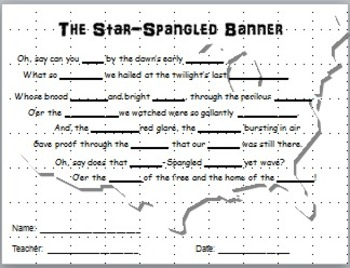 Star-Spangled Banner - Memorization Map