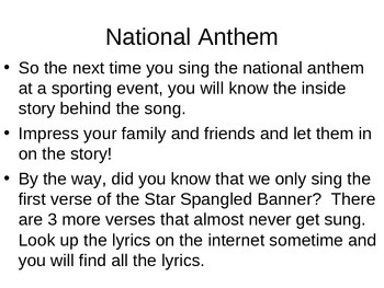 Star Spangled Banner-- National Anthem explained