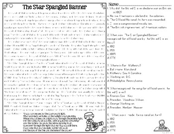 Star Spangled Banner Reading Passages: Leveled Texts for SS Integration