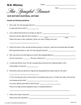 Star-Spangled Banner Review Packet