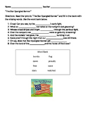 Star Spangled Banner worksheet
