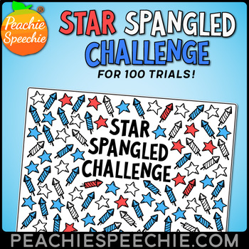 Star Spangled Challenge for 100 Repetitions by Peachie Speechie