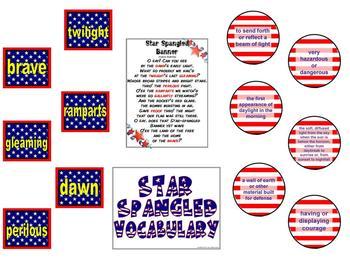 Star Spangled Vocabulary Music Bulletin Board Kit