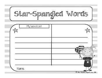 Star Spangled Word Work