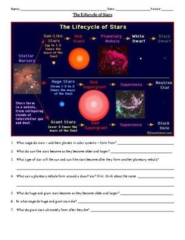 Star Stages Worksheet