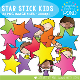 Star Stick Kids - Clipart for Teaching
