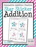 Star Sticker Addition - Interactive Addition Practice