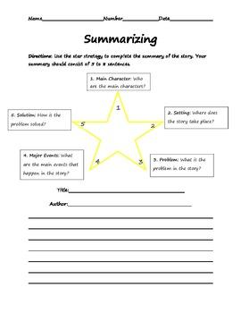 Star Strategy-Story Summarizing