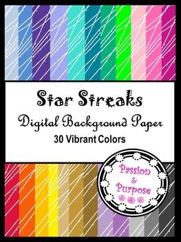 Star Streaks - Digital Background Paper
