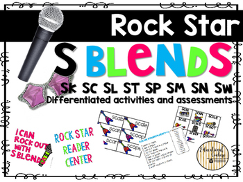 Star Studded S Blends- Reading Activities and Centers to teach S Blends