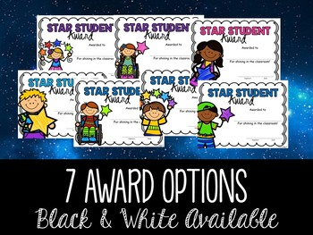 Star Student Award Certificates