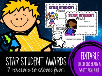 star student award certificates by katie sue meyer tpt