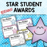 Star Student Awards ~EDITABLE~