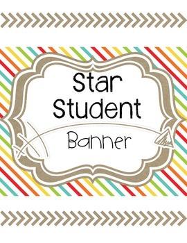 Star Student Banner