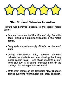 Star Student Behavior Incentive